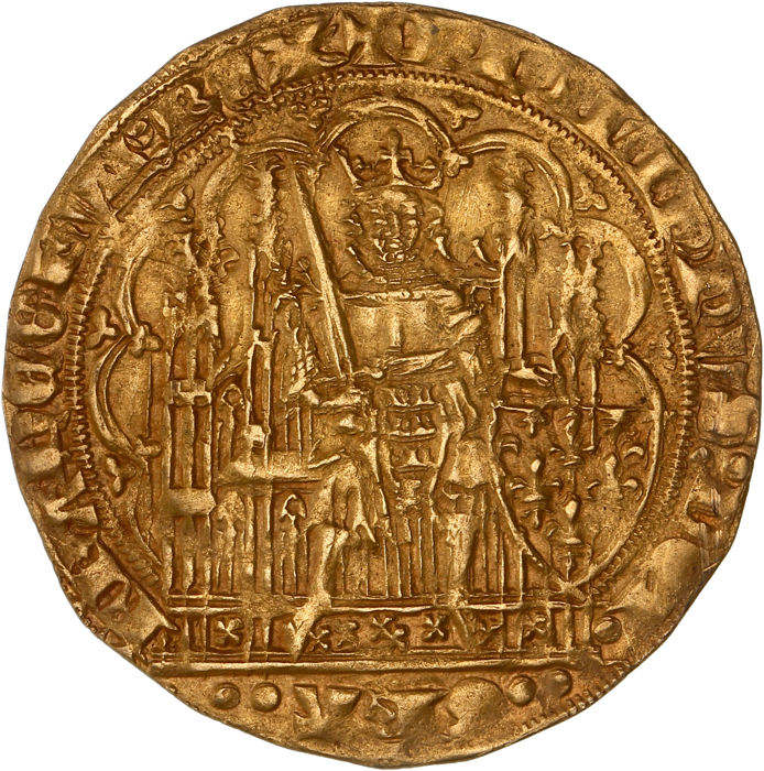 Frankrijk Ecu d'or à la chaise nd (1348) - Philippe VI (1328-1350) - Goud