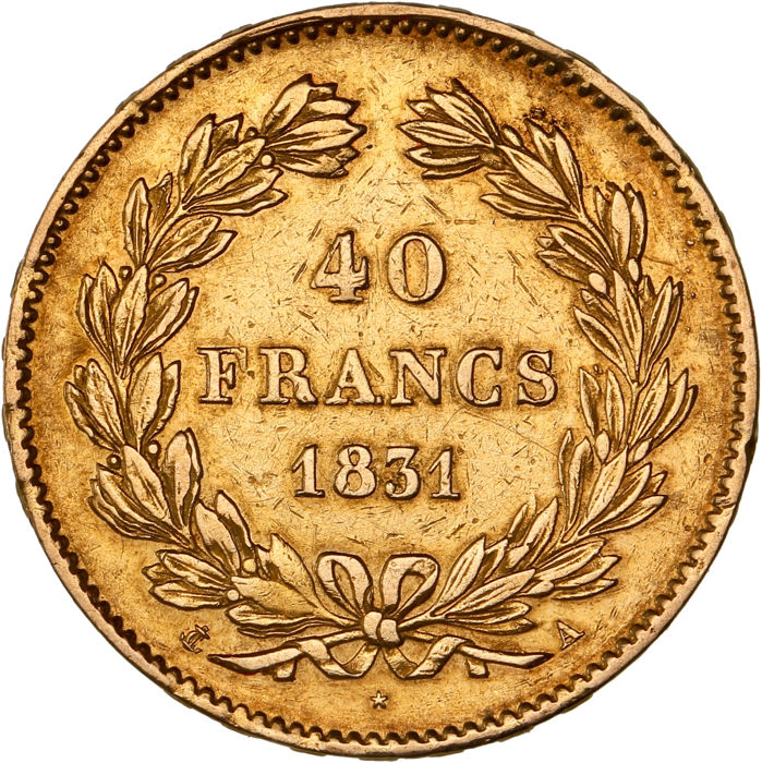 40 Francs 1831 A - Louis Philippe I - Or