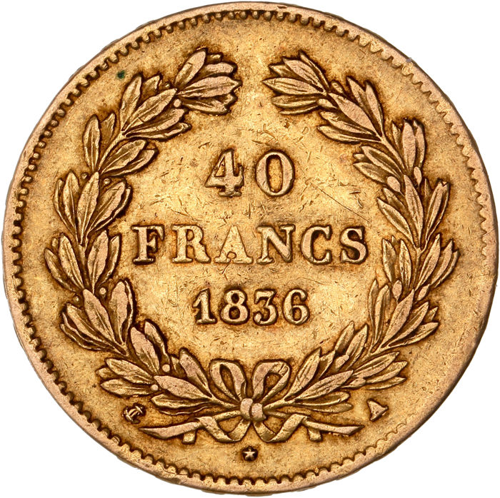 40 Francs 1836 A - Louis Philippe I - Or