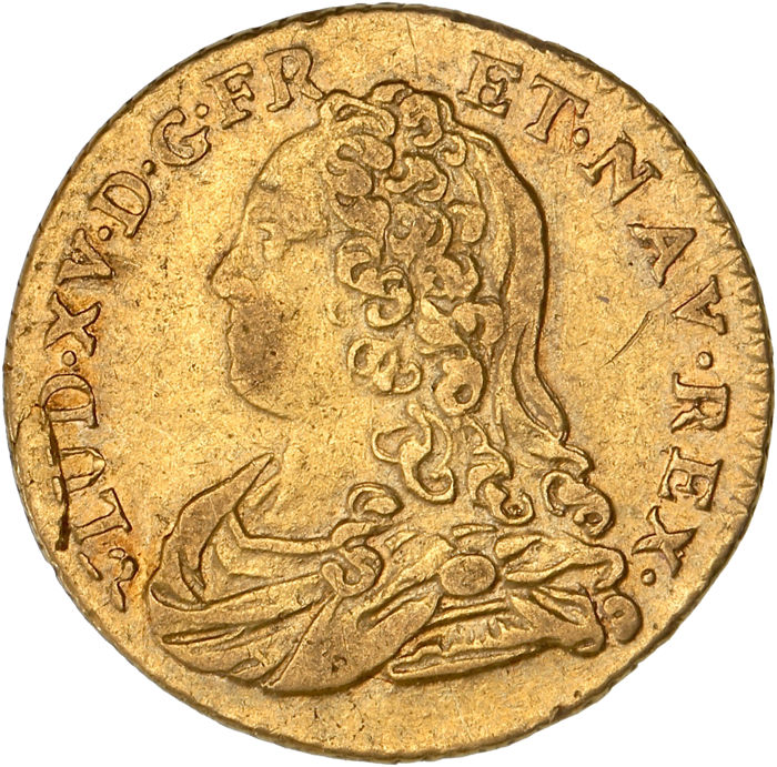 France - 1/2 gold Louis with glasses 1730-BB (Strasbourg) - Louis XV - Gold