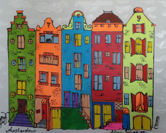 Elena Polyakova - Typical houses from Amsterdam