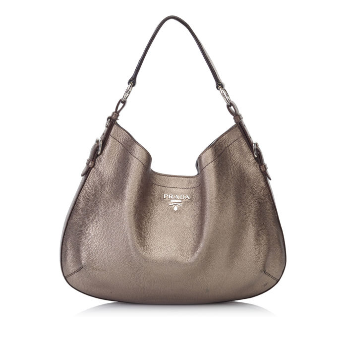 Prada - Metallic Leather Shoulder Bag - Catawiki 8205930bbf8a4