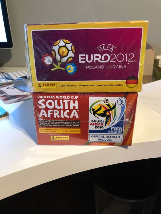 Panini - South Africa 2010 + Euro 2012 - 2 Original sealed boxes.