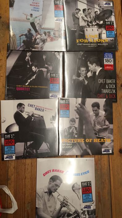 Seven albums of Chet Baker || Legendary jazz albums || Deluxe gatefold sleeves || Limited editions || 180 gram vinyl ||