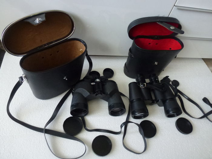 Two pairs of binoculars Prismatic Combi Fully Coated Optics 7 x 50 & Pallas Coated Optics