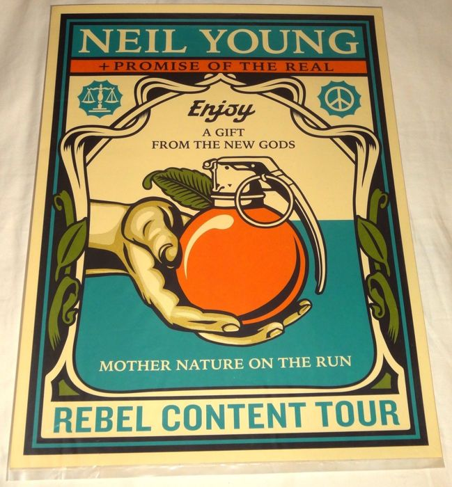 Shepard Fairey - Promise of the Real Rebel Content Tour Neil Young