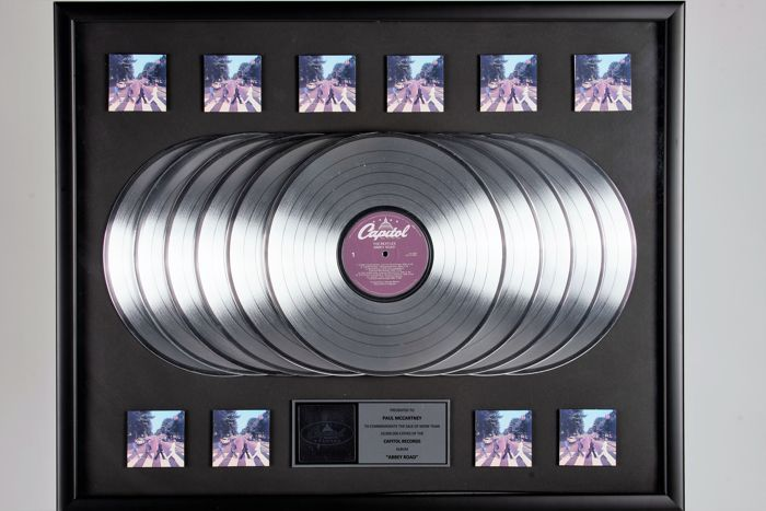 """Abbey Road"" 10x platinum record award - Presented to Paul McCartney"