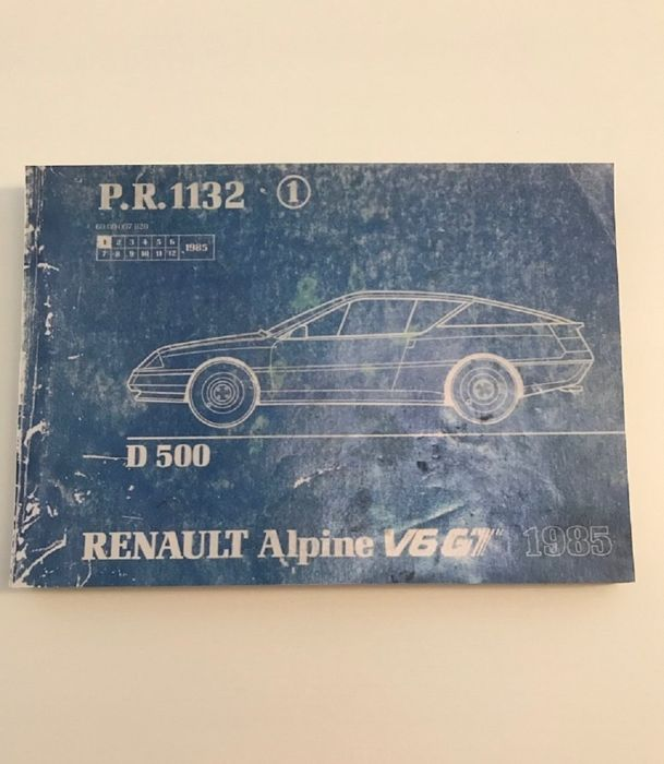 Renault Alpine Original catalogue