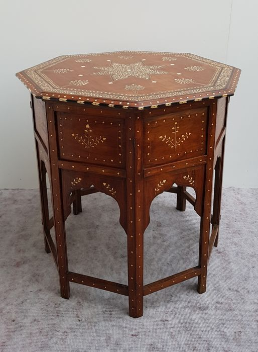 Amazing Anglo Indian Bone Inlaid Octagonal Side Table India Ca 1890 Catawiki Dailytribune Chair Design For Home Dailytribuneorg