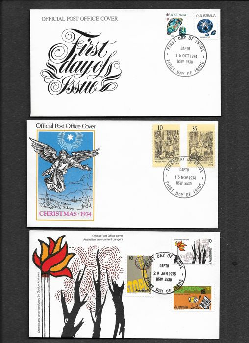 dapto post office. Perfect Dapto Australia 19702002  Selection Of First Day Covers Throughout Dapto Post Office