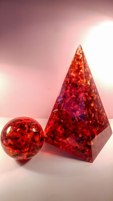 Huge Composite Baltic Amber Pyramid and Sphere,  - 2,594 kg
