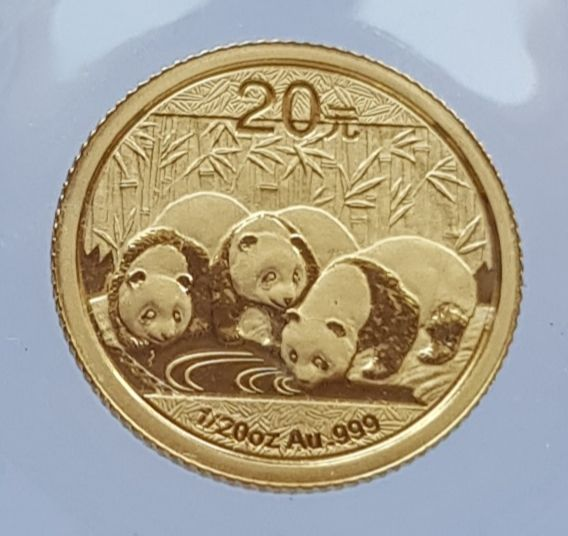 China - 20 Yuan 2013 Panda - 1/20 oz - Oro