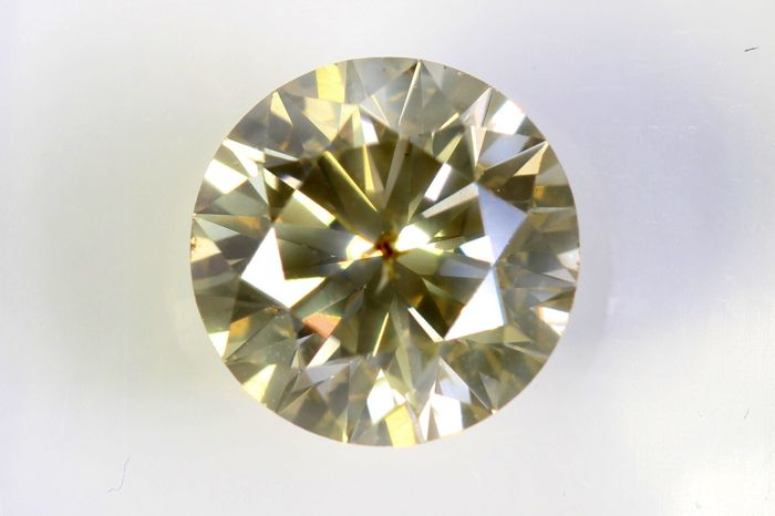 AIG Sealed Diamant - 1.72 ct - Fancy Light Yellowish Brown