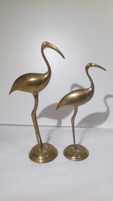 Unknown designer. Brass herons