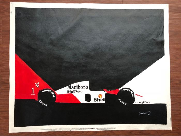 McLaren MP4/8 - Original - Oil on Canvas
