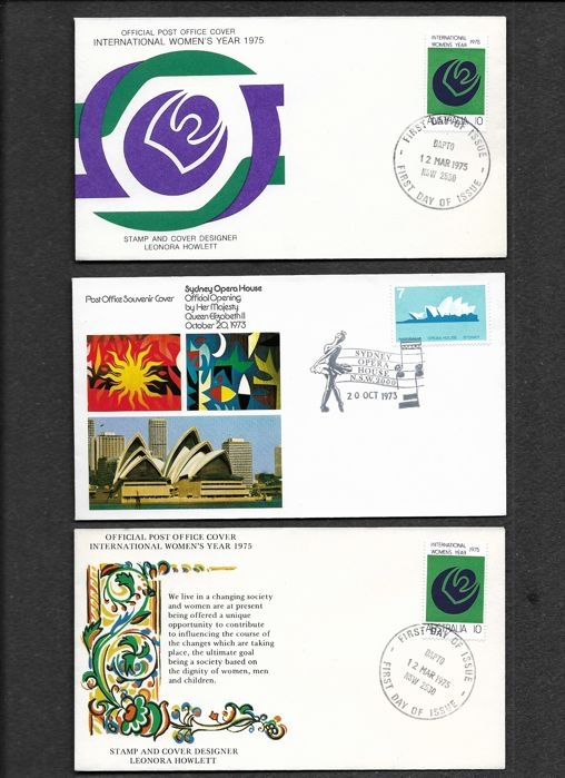 dapto post office. Australia 1970/2002 - Selection Of First Day Covers Dapto Post Office