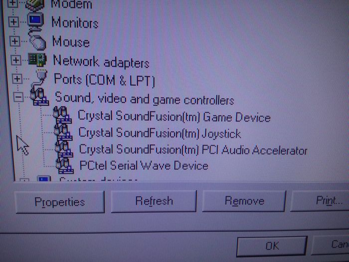CRYSTAL SOUNDFUSION TM GAME PORT DRIVERS