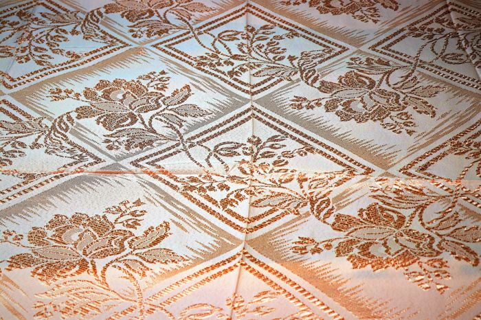 Damask bed quilt private collection from Portugal.