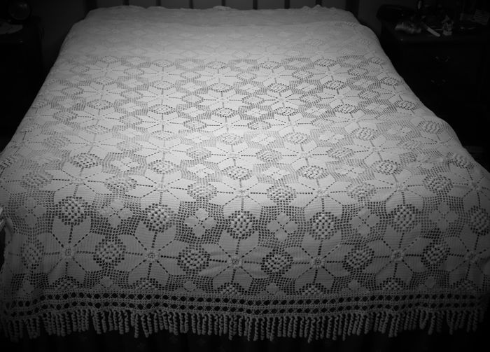 White crochet bed quilt, a private collection from Portugal