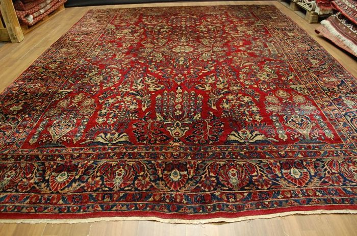 US Sarough, approx. 380 x 270 cm, Iran, re-import