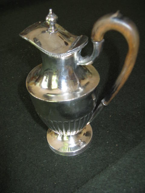 Victorian Silver Plated jug with wooden handle, England, 2nd half 19th century