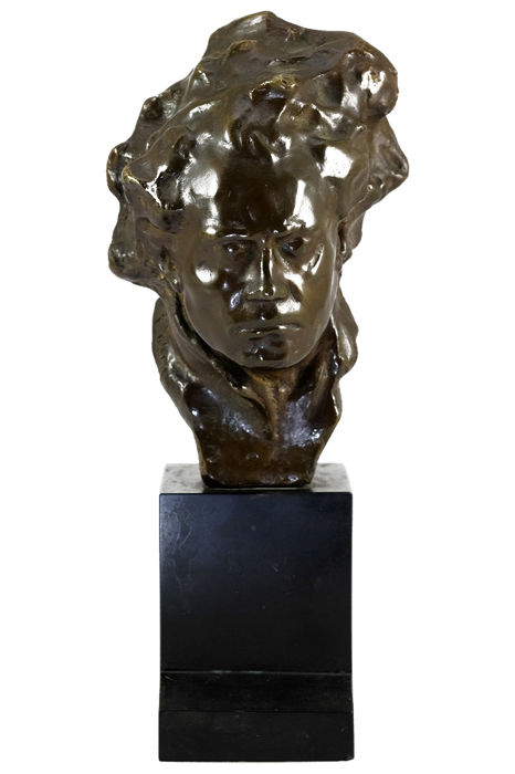Alfredo Pina (1883-1966) - bronze sculpture of Beethoven - Italy - circa 1920