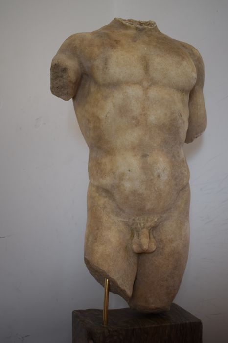 Marble male torso - Italy - 20th century