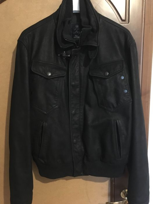 Fay 100/100 calfskin leather jacket