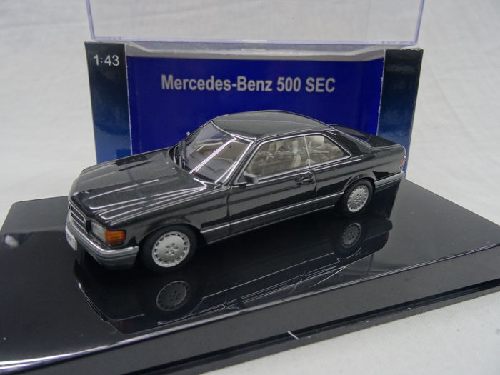 Autoart - 1:43 - Mercedes-Benz 500 SEC (W126) Coupe - Color blue black metallic