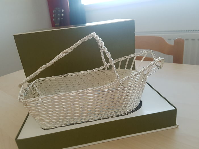 Christofle/Gallia, silver plated metal wine basket