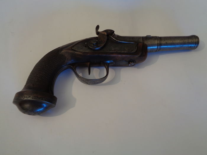French Traveling Pistol circa 1824/1830 under the Restauration or Charles X.