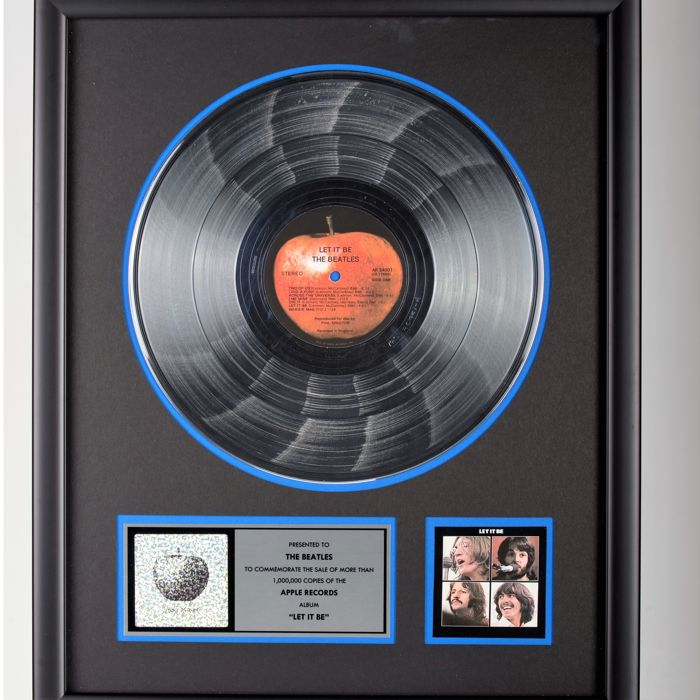 Let it Be Platinum Record Award PRESENTED TO THE BEATLES