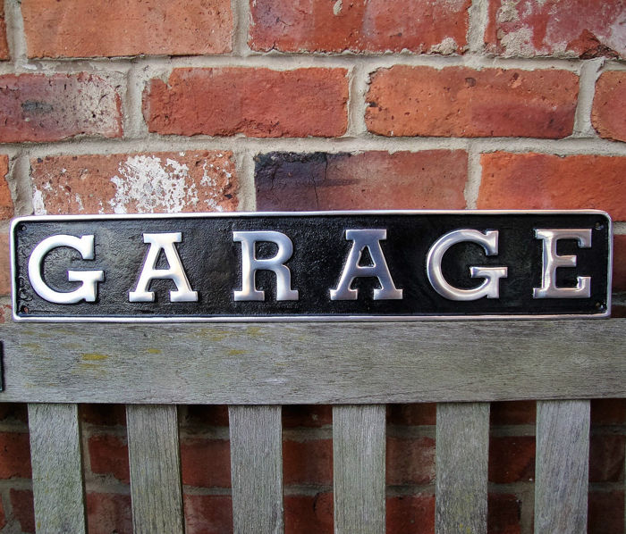 Bewegwijzering - Vintage Garage Sign - Restored and Polished - 1 (1 items)