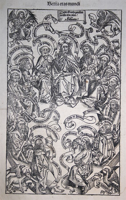 H. Schedel - God with Saints - 1493