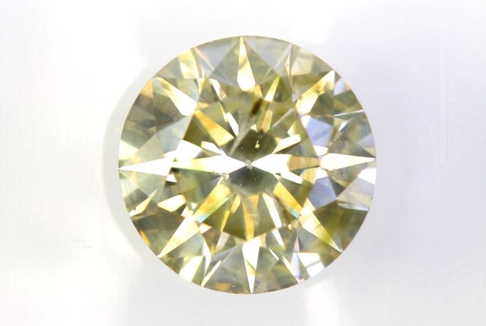 AIG Sealed Diamond - 1.53 ct - Fancy Light Brownish Yellow