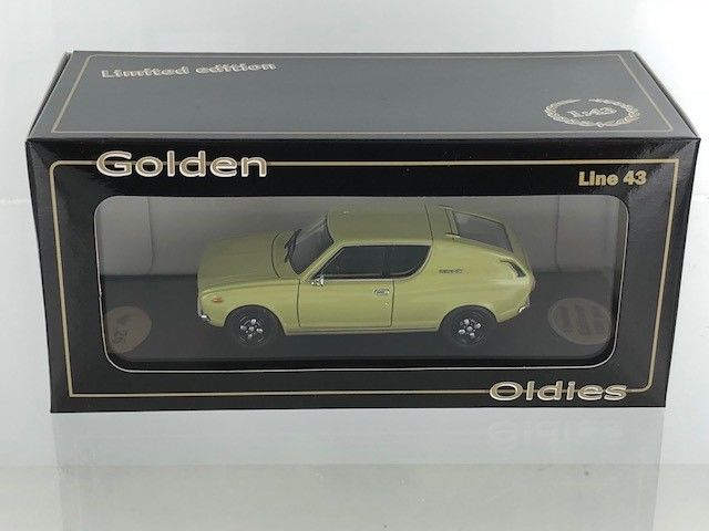 Golden Oldies - 1:43 - Datsun 120A Coupe Geel - BEV1071