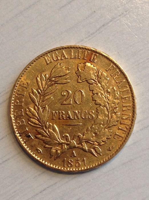 France - 20 Francs 1851-A Ceres - gold