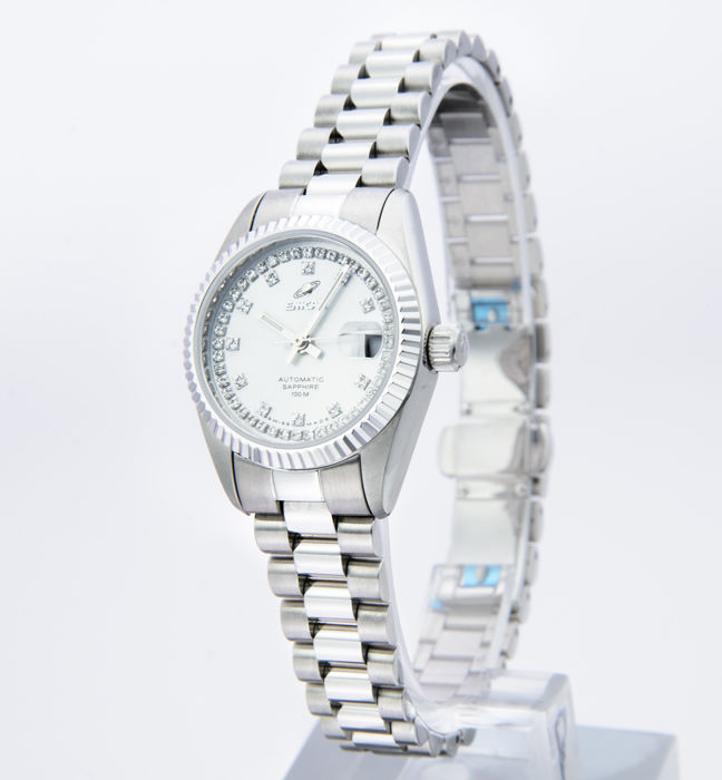 Enicar - Stainless steel Automatic ladies watch - 778-52-18aI - Women - 2011-present