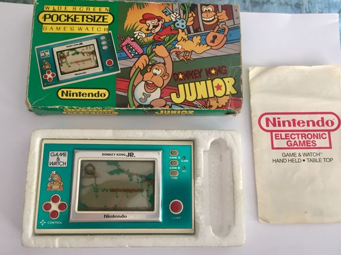Donkey Kong Junior Games watch Dj-101 - with original box - instruction