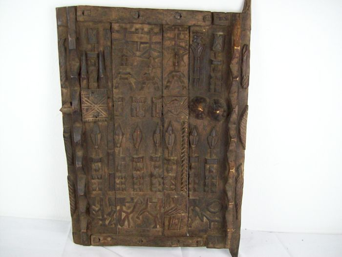Granary door of the DOGON - Tribal art from Africa - Mali - Wooden door - Granary door