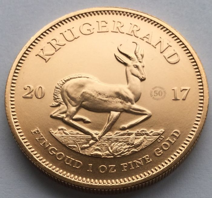 South Africa - Krugerrand 2017 (50 years privy mark) - 1 oz - Gold