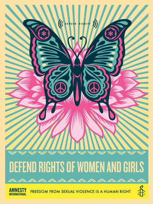 Shepard Fairey (OBEY) - Defend the Rights of Women and Girls + Bonus