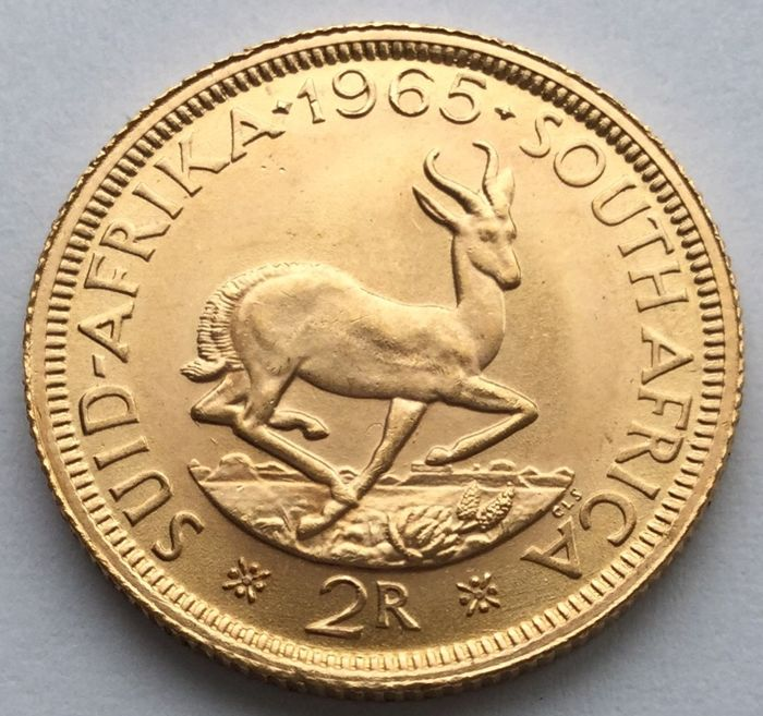 South Africa - 2 Rand 1965 - Gold