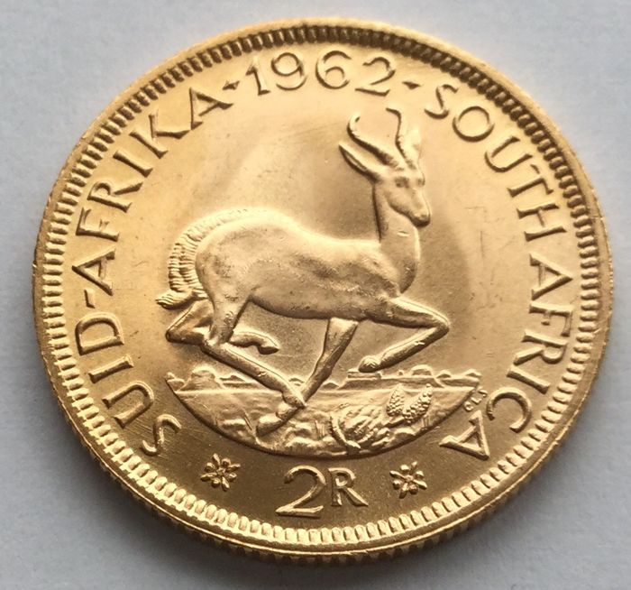 South Africa - 2 Rand 1962 - Gold