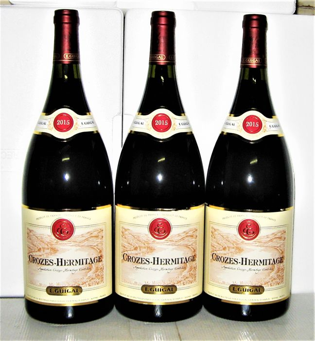 Crozes-Hermitage 2015 - Domaine E.Guigal - Lot of 3 magnums (1.5L)
