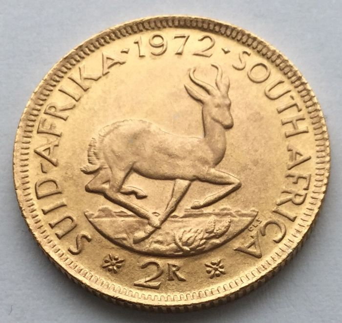 South Africa - 2 Rand 1972 - Gold