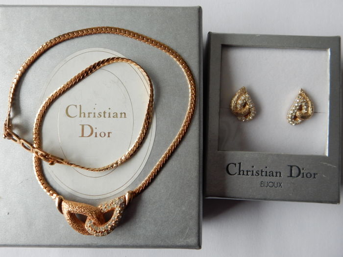 Christian Dior - necklace and earring set, 1970's - Vintage
