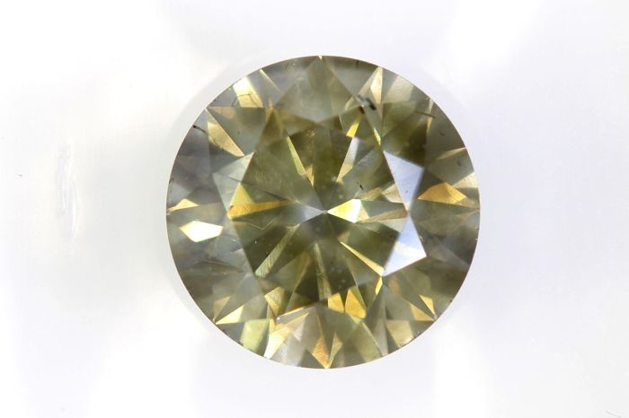 * NO RESERVE PRICE * -  AIG Sealed Diamant - 1.54 ct - Fancy Light Greenish Yellow - Excellent Cut