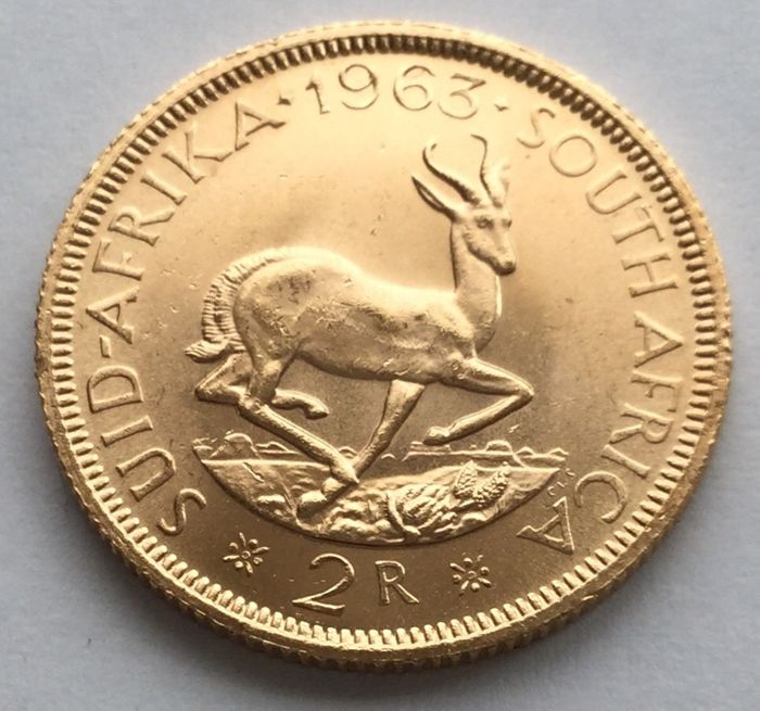 South Africa - 2 Rand 1963 - Gold