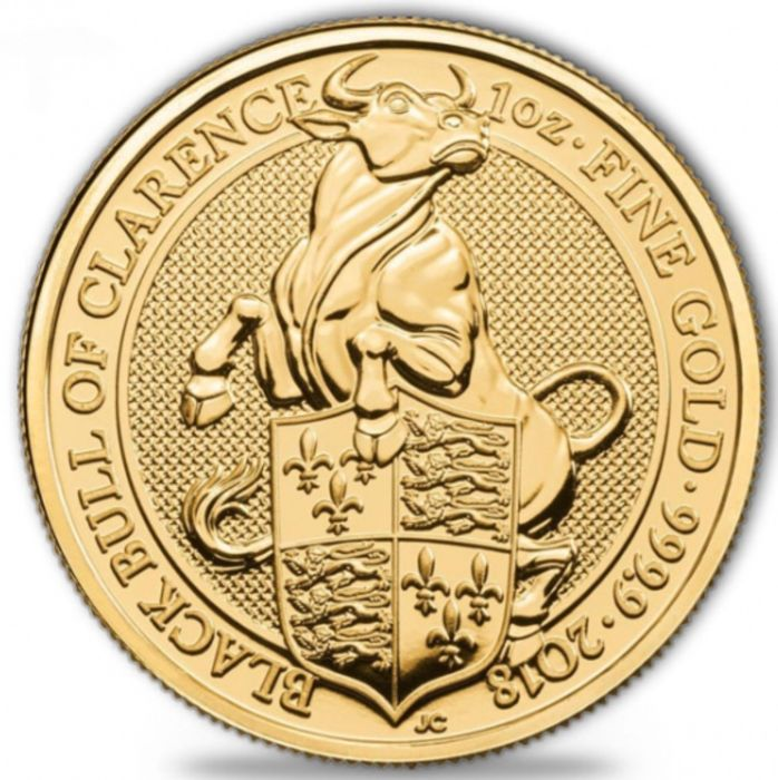 United Kingdom - 100 Pounds 2018 'Black Bull of Clarence' - 1 oz   - Gold